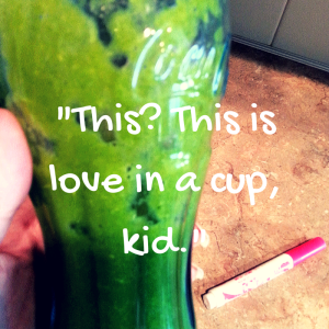 """This--- This is love in a cup, kid."" (3)"